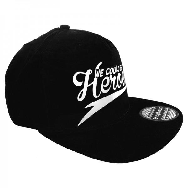 Snapback Cap - We could be heroes schwarz