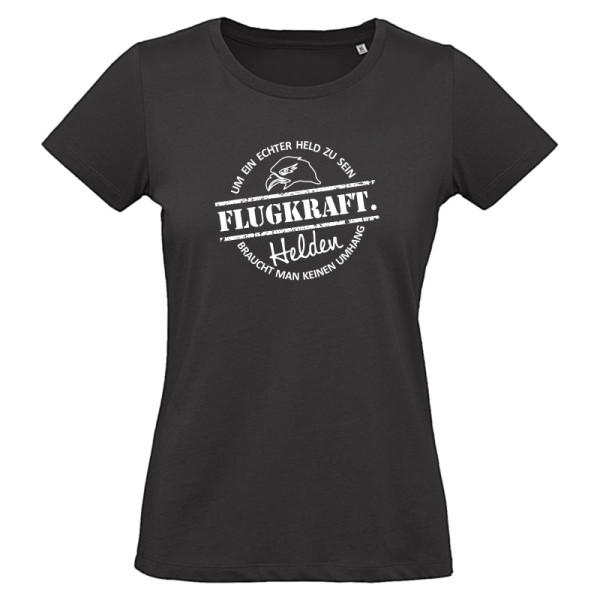 Damen T-Shirt - Helden Button