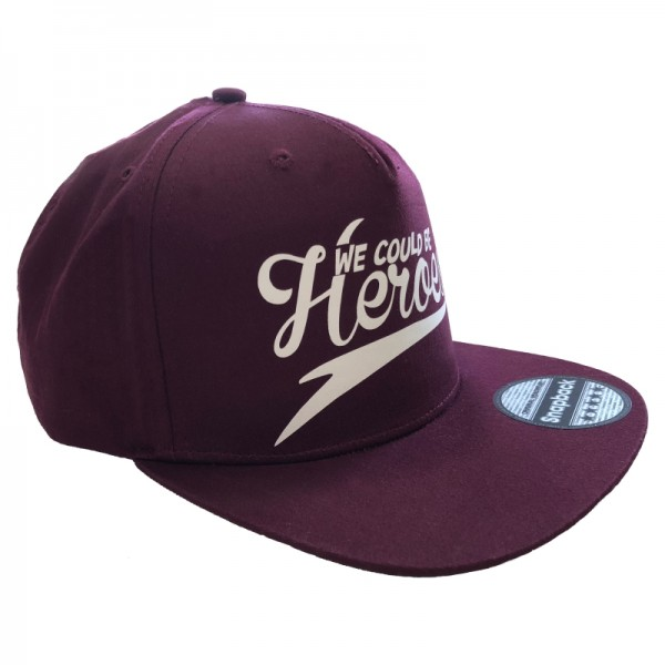 Snapback Cap - We could be heroes burgund