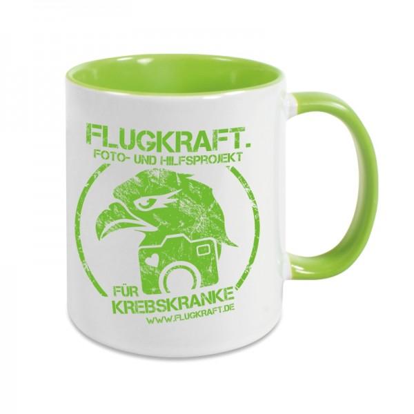 Flugkraft Tasse - Logo grün