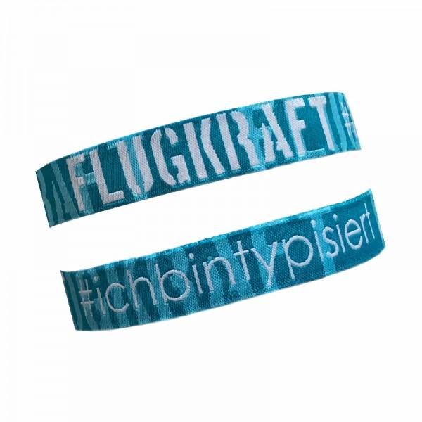 Flugkraft Stoffarmband - #ichbintypisiert